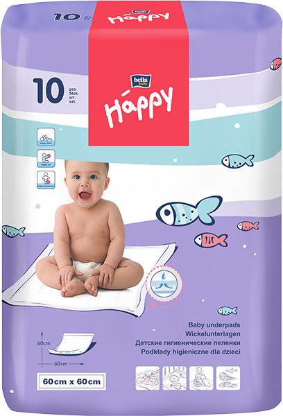 Bella Baby Happy Podkład do przewijania 60x60cm 10szt.