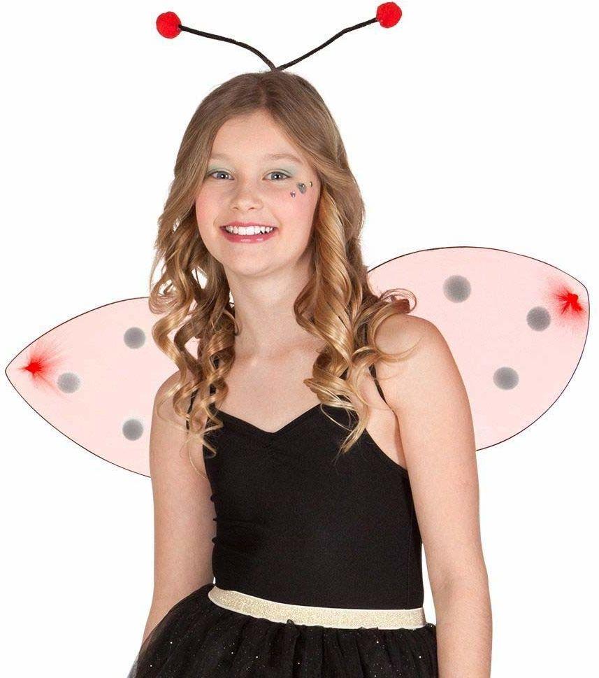 Boland 52853 - zestaw kostiumowy biedronka, opaska na włosy i skrzydła