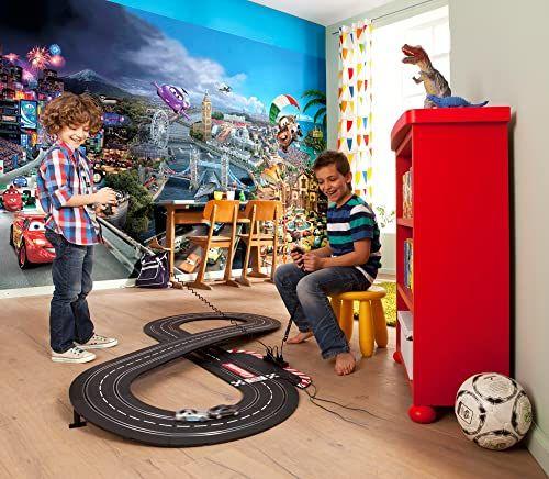 Komar Disney Pixar Cars World tapeta mural, winyl, wielokolorowa, 368 x 0,2 x 254 cm