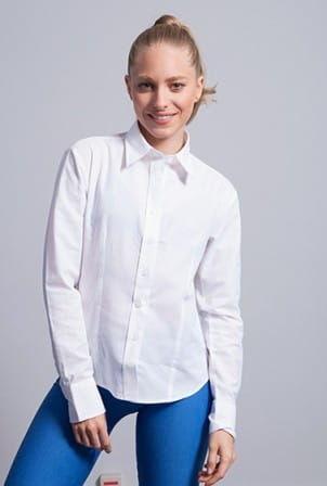 Bluzka damska OXFORD z długim rękawem