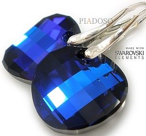 Kryształy UNIKAT piękne kolczyki BERMUDA TWIST