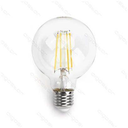 Żarówka FILAMENT LED E27 6W ciepła 2700K G80