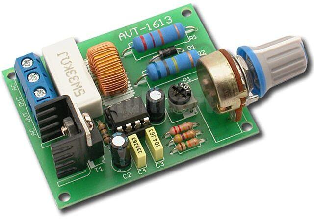 Regulator obrotów silnika indukcyjnego wentylatora 230V - zmontowany