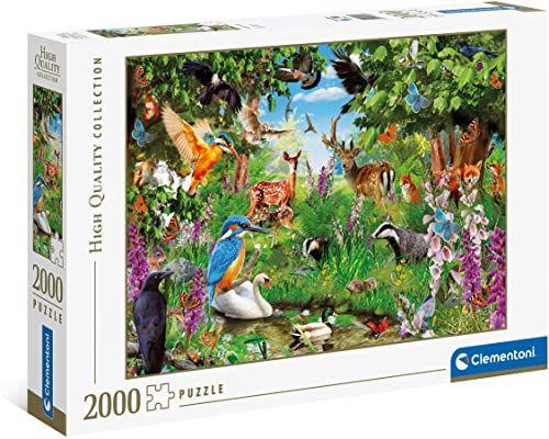 Clementoni 32566 fantastyczna kolekcja leśna High Quality Collection 2000 części puzzle dla dorosłych i dzieci od 10 lat