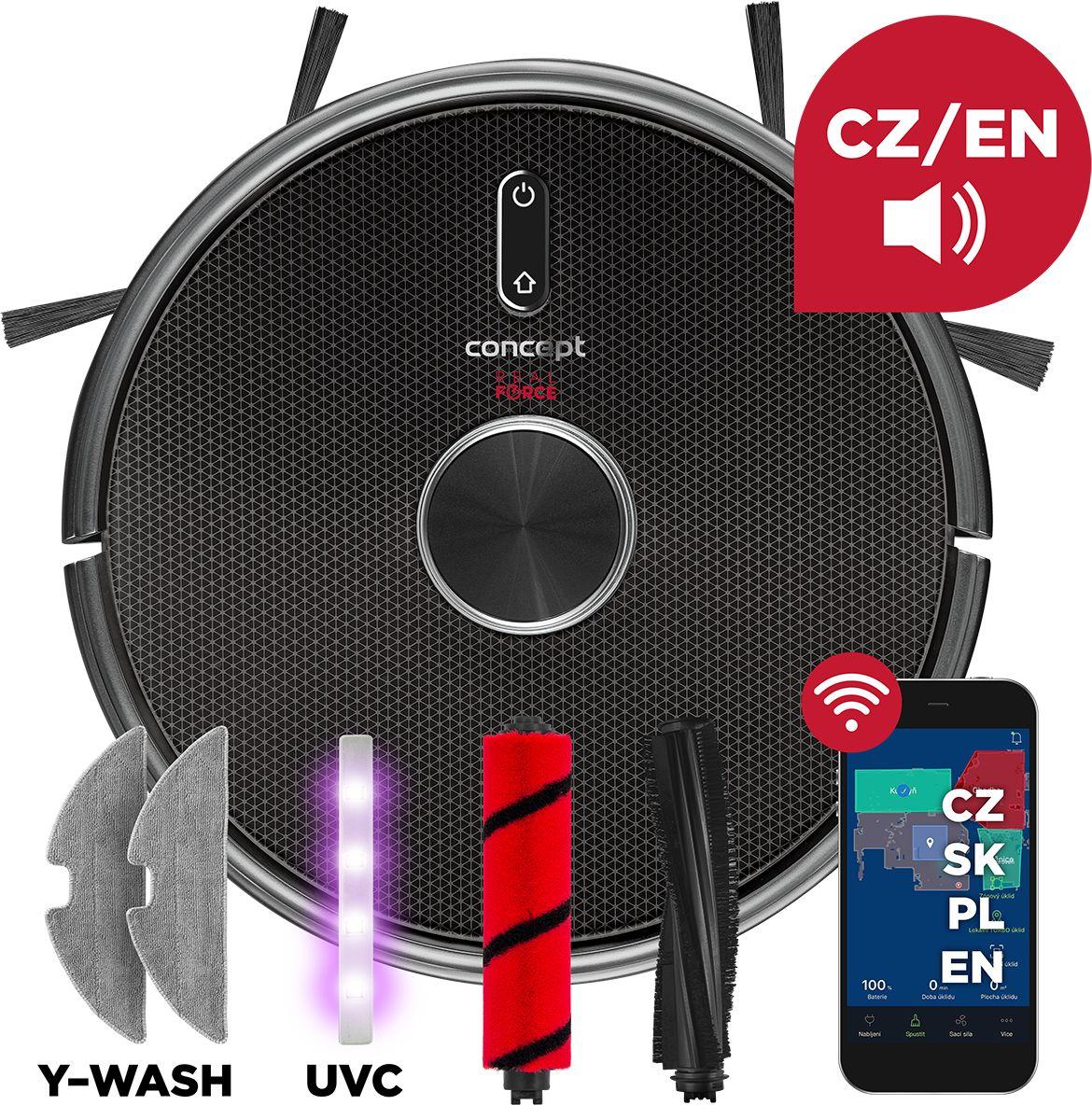 Concept VR3210 odkurzacz robotyczny 3w1 Laser UVC