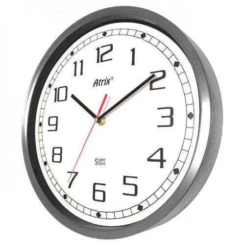 Zegar ze stali nierdzewnej Super Cichy #1 /30cm