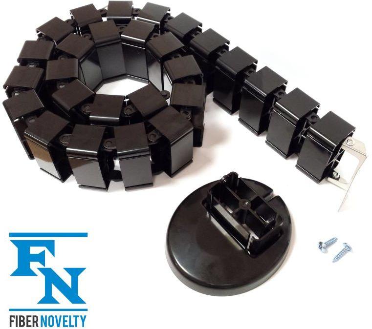 ErgoMask120B - pionowy kanał kablowy / maskownica kabli / organizer przewodów