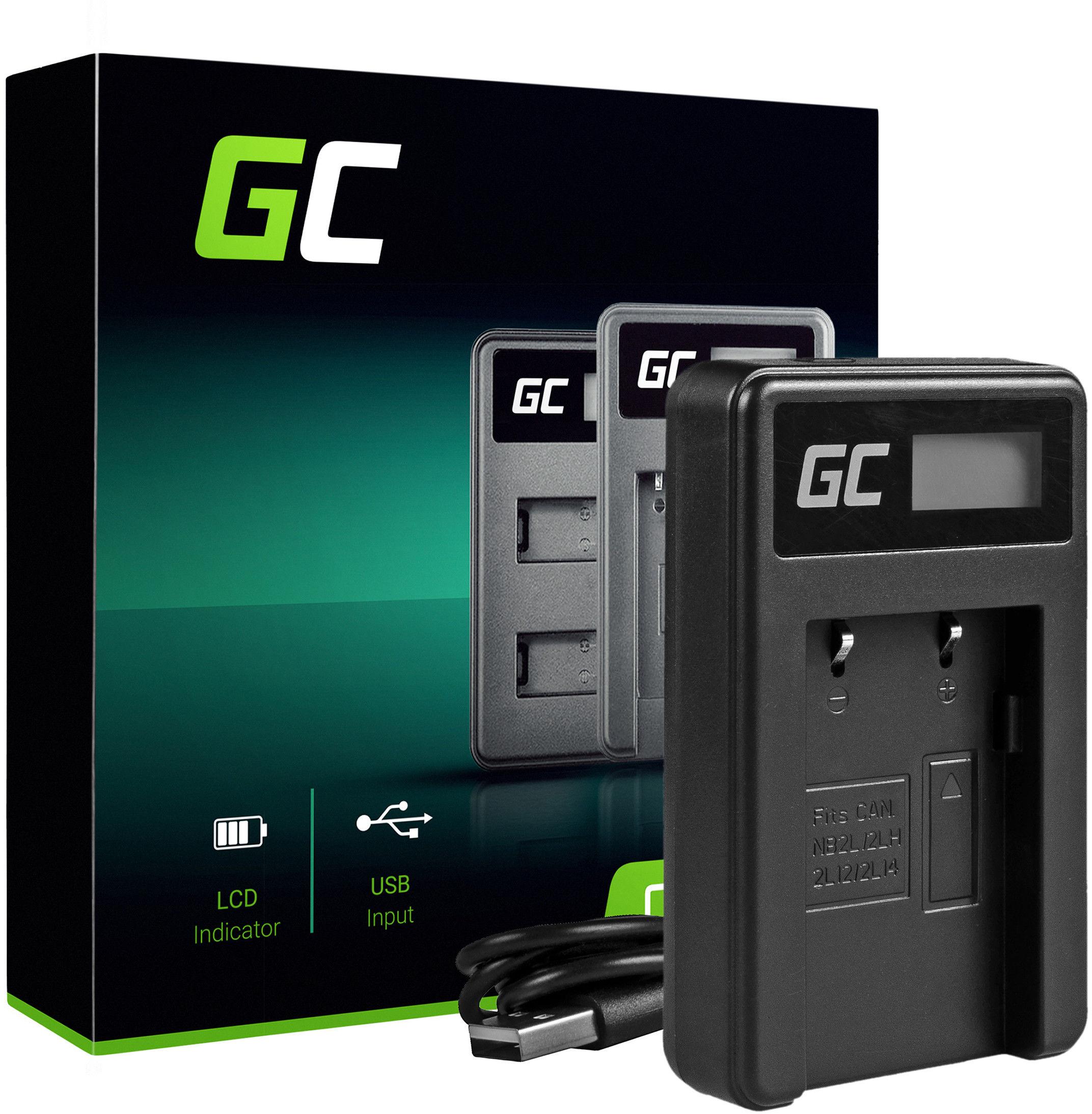 Ładowarka CB-2LW Green Cell  do Canon NB-2L NB-2LH, Digital Rebel XT Elura 50 60 70 80 Optura 30 40 50 60 500 PowerShot G7 S5