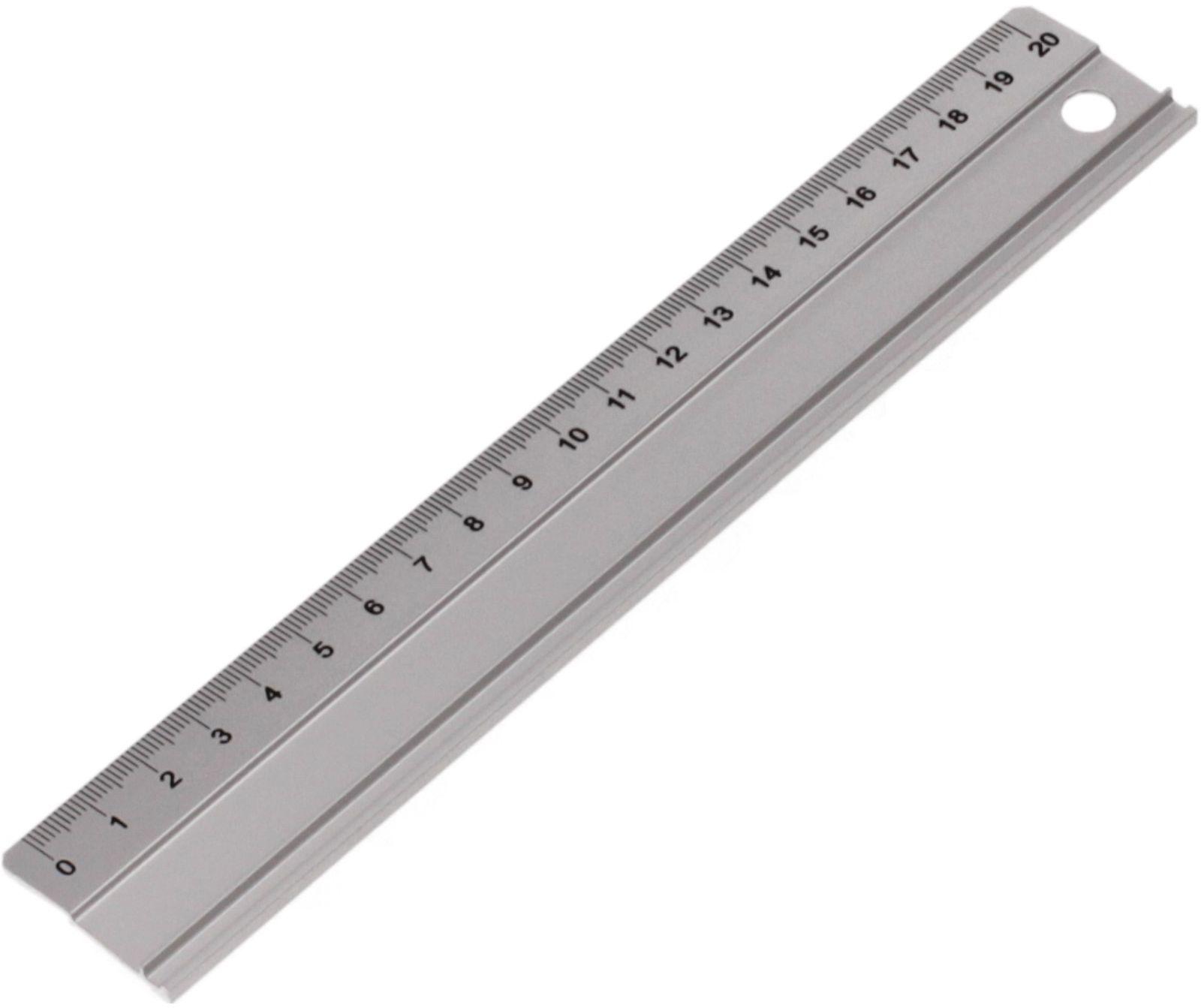 Linijka 20cm aluminium Leniar 30360