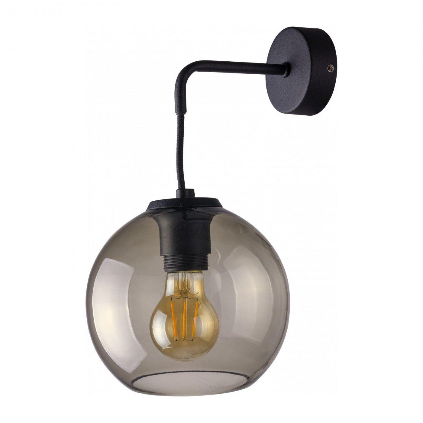 Kinkiet Vetro 9132 Nowodvorski Lighting szklana oprawa na czarnym wysięgniku