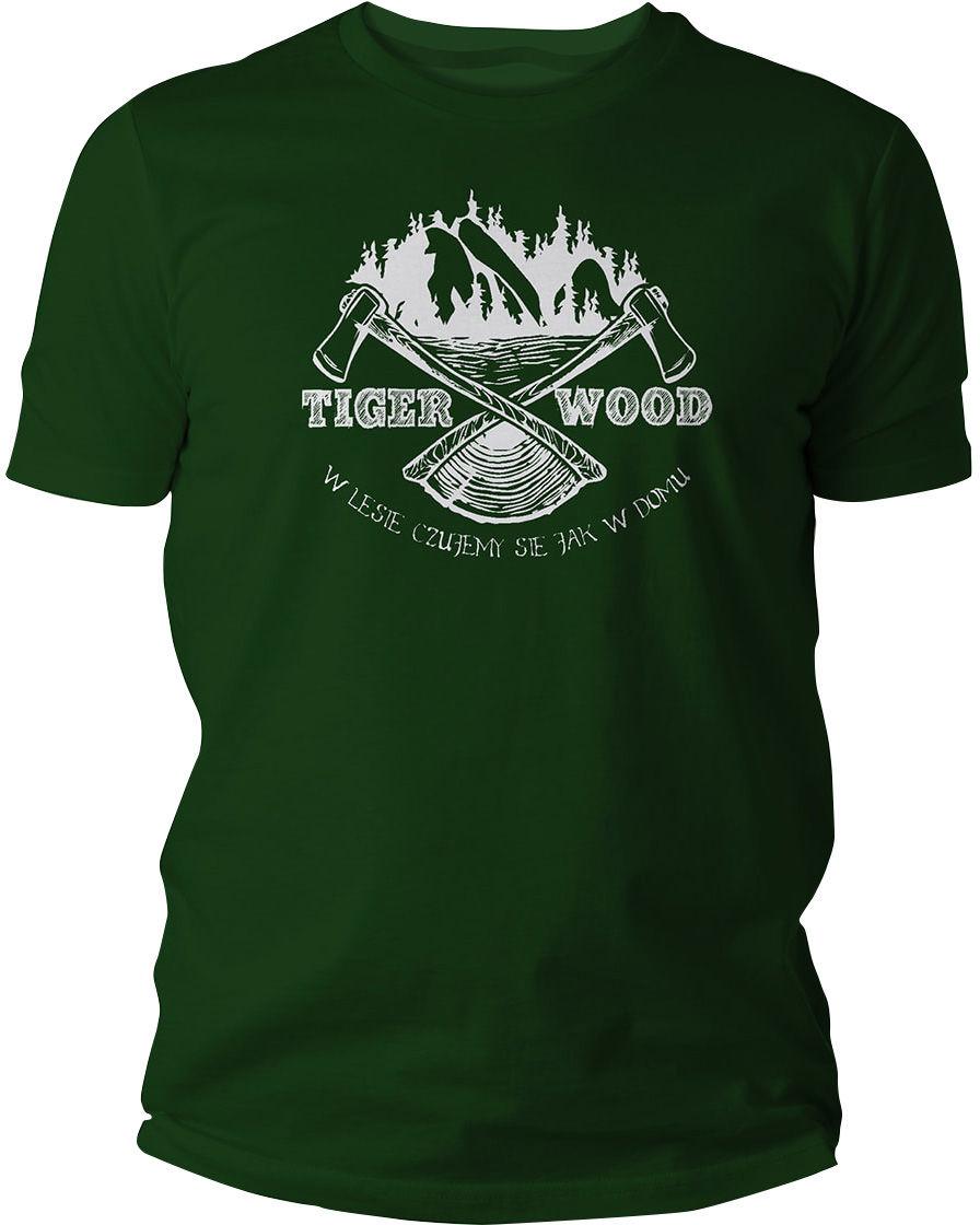 Koszulka T-Shirt TigerWood Two Axes Green