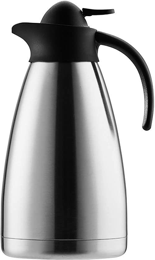 Termos SAFIR, pojemność 1,5 litra na 12 filiżanek, srebrny/czarny