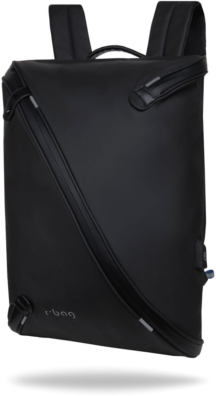 """Plecak męski na laptopa 13-15,6"""" z USB Acro Black rBag"""