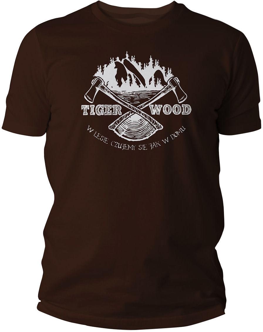 Koszulka T-Shirt TigerWood Two Axes - brązowa