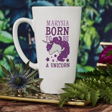 Born to be a unicorn - Personalizowany Kubek