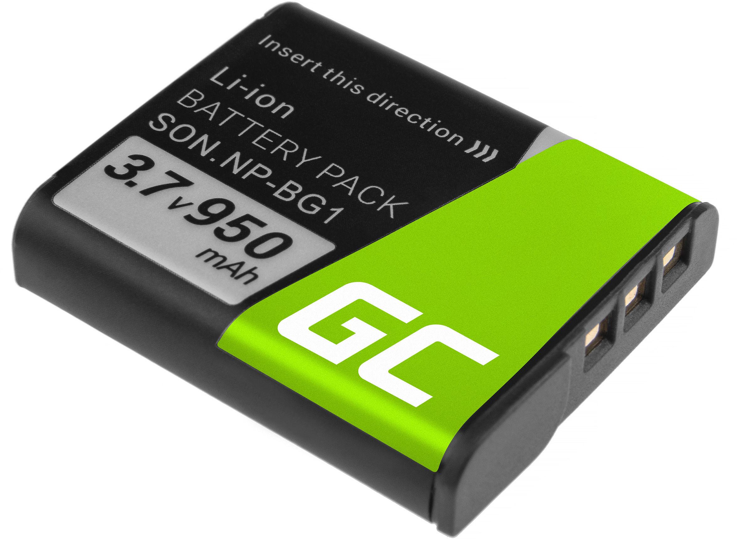 Akumulator Bateria Green Cell  NP-BG1 NP-FG1 do Sony DSC H3 H7 H9 H10 H20 H50 HX7V HX5V HX9V W35 W50 W80 W100 W110 3.7V 950mAh