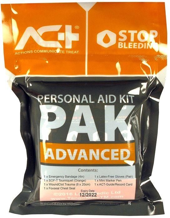 ACT-PAK ADVANCED zaawansowany, indywidualny zestaw do tamowania masywnego krwotoków