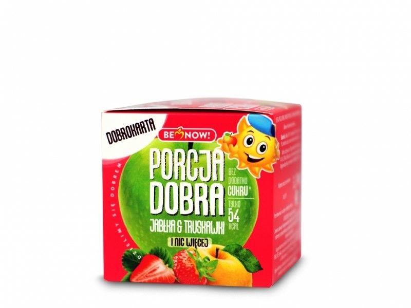 Porcja Dobra Kostka z niespodzianką jabłko truskawka - 16 g