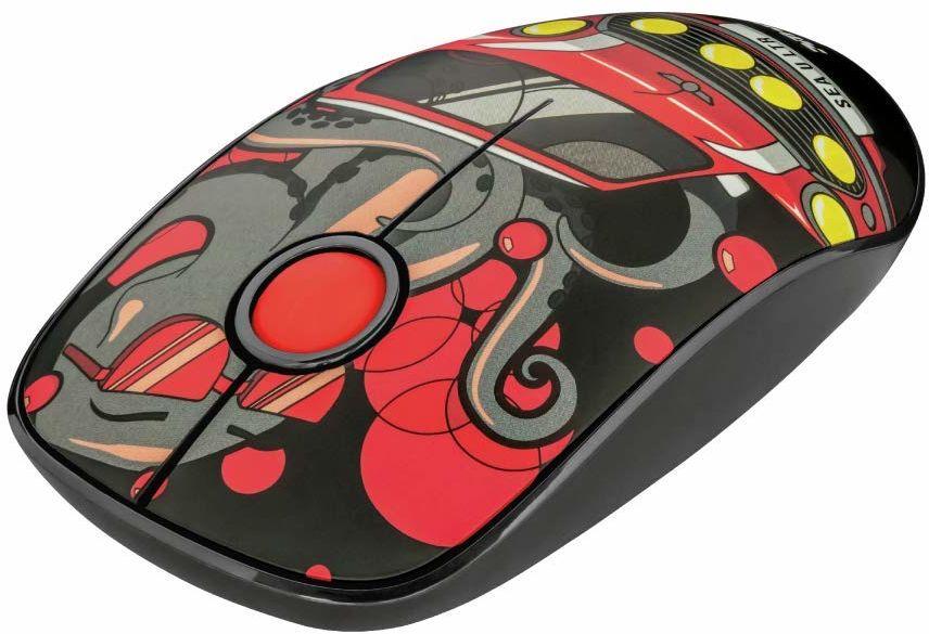 Trust Sketch bezprzewodowa mysz Silent-Click - czerwona