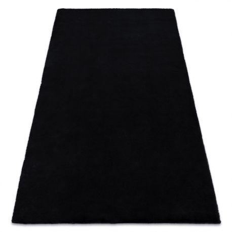 Dywan BUNNY czarny IMITACJA FUTRA KRÓLIKA 60x100 cm