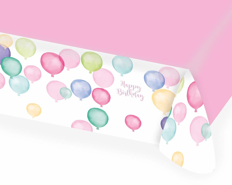 Amscan 9903733 obrus Happy Birthday Pastel