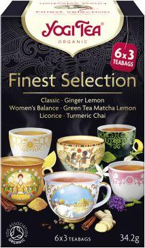 Herbatka ekspresowa finest selection mix herbatek bio 6 x 3 torebki 34,2 g - yogi tea