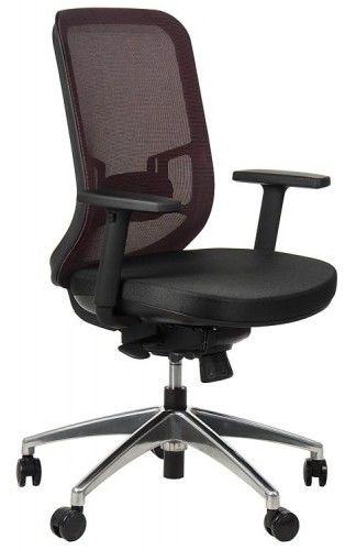 Krzesło obrotowe biurowe z podstawą aluminiową i wysuwem siedziska model GN-310/BORDO fotel biurowy obrotowy - Stema