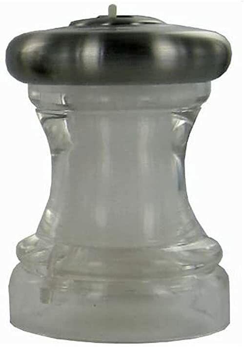 Marlux 7,6 cm solniczka shaker, przezroczysty korpus i wykończenie ze stali nierdzewnej, matowa