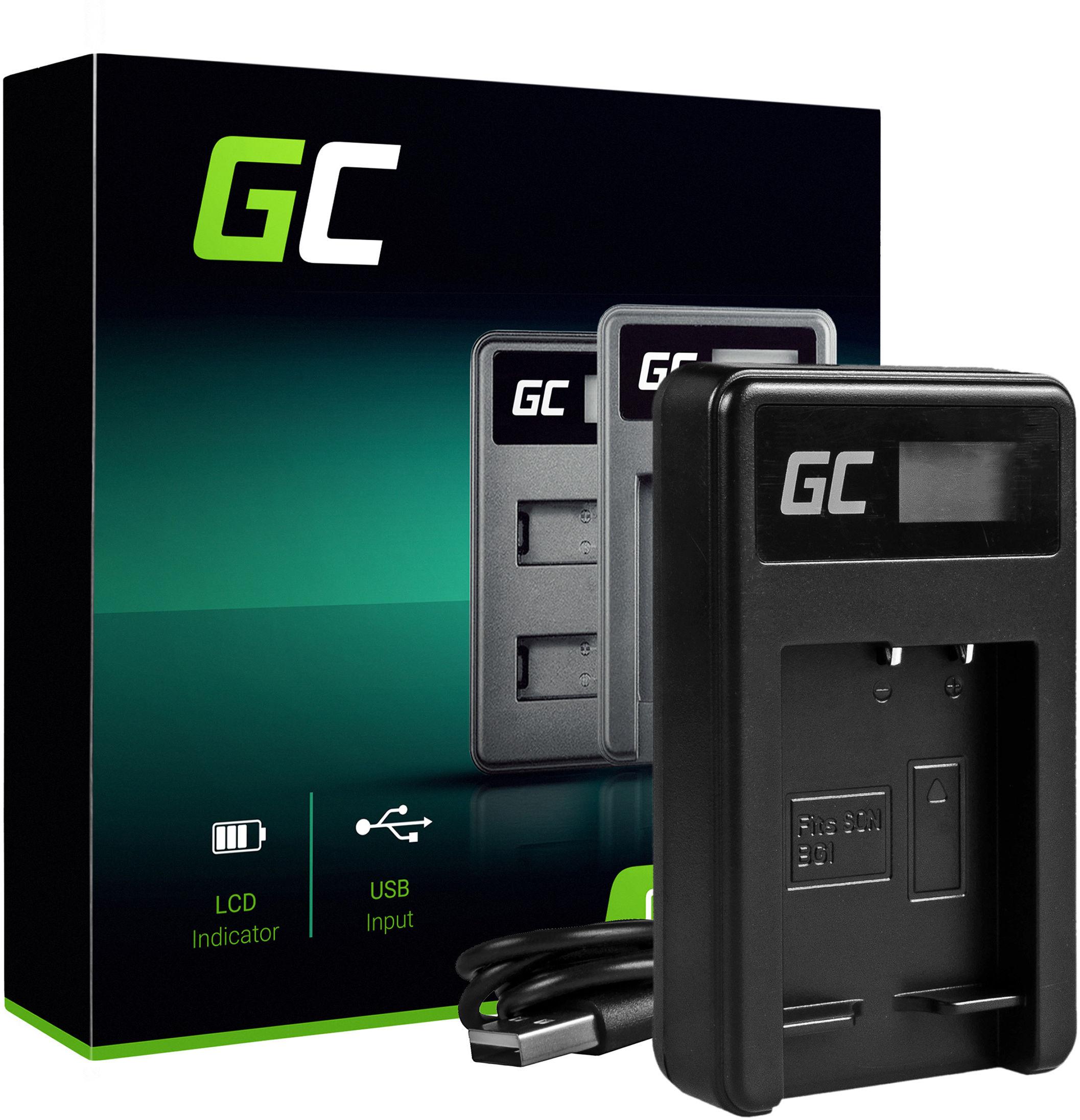 Ładowarka BC-CSG Green Cell  do Sony NP-BG1 NP-FG1, DSC H10 H20 H50 HX5 HX10 HX20V N1 N2 T50 T100 W30L W35 W50 W70 WX10