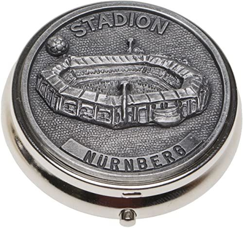 Schnabel-Schmuck Nürnberg pojemnik na tabletki nakładka cyna stadion piłkarski