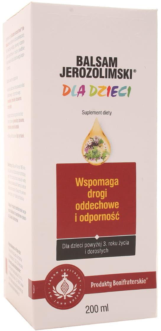 Balsam jerozolimski dla dzieci - Konwent Bonifratrów - 200ml