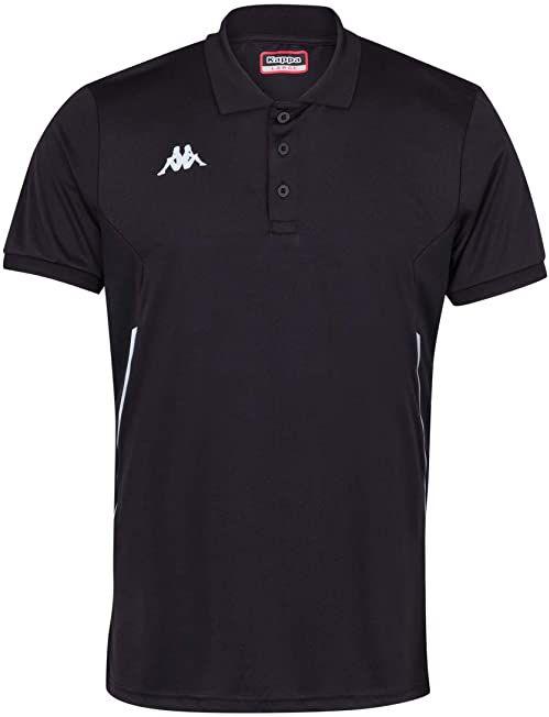 Kappa Faedis koszulka polo tenisowa, męska, czarna, 12Y