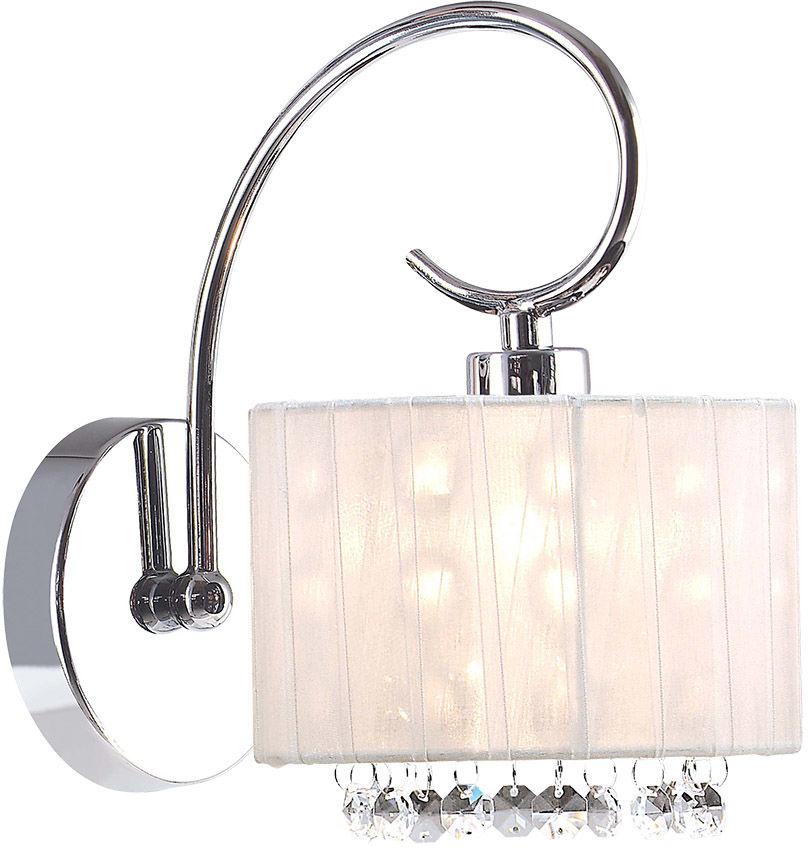 Italux kinkiet lampa ścienna Span MBM1583/1 WH biały abażur kryształy
