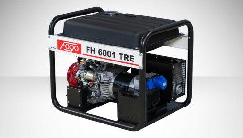 Fogo FH 6001 TRE Agregat prądotwórczy jednofazowy 230V, moc max - 6,2 kW - AVR automatyczny regulator napięcia, powiększony zbiornik paliwa, elektrycz