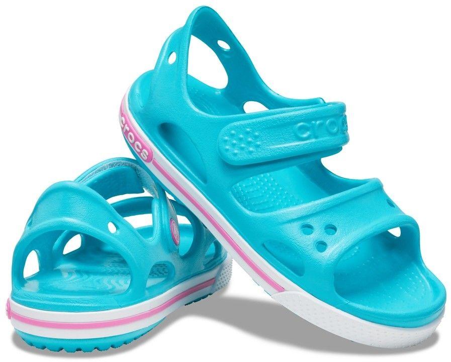 Crocs turkusowy dziewczęce sandałki Crocband II Sandal PS Digital Aqua