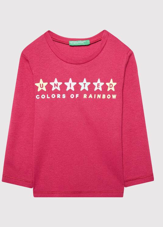 Bluzka 3I9WC15BX Różowy Regular Fit