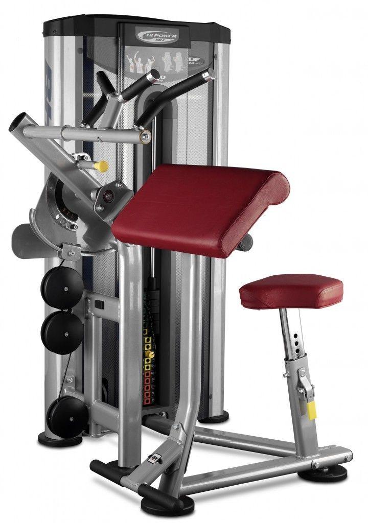 Maszyna do ćwiczeń mięśni bicepsu i tricepsu Biceps Triceps L140 BH Fitness