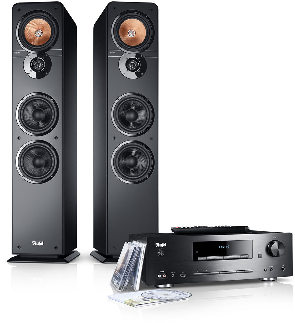 Teufel ULTIMA 40 KOMBO, stereo set, kolumny czarne
