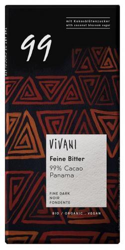 Czekolada gorzka 99% kakao BIO 80g Vivani