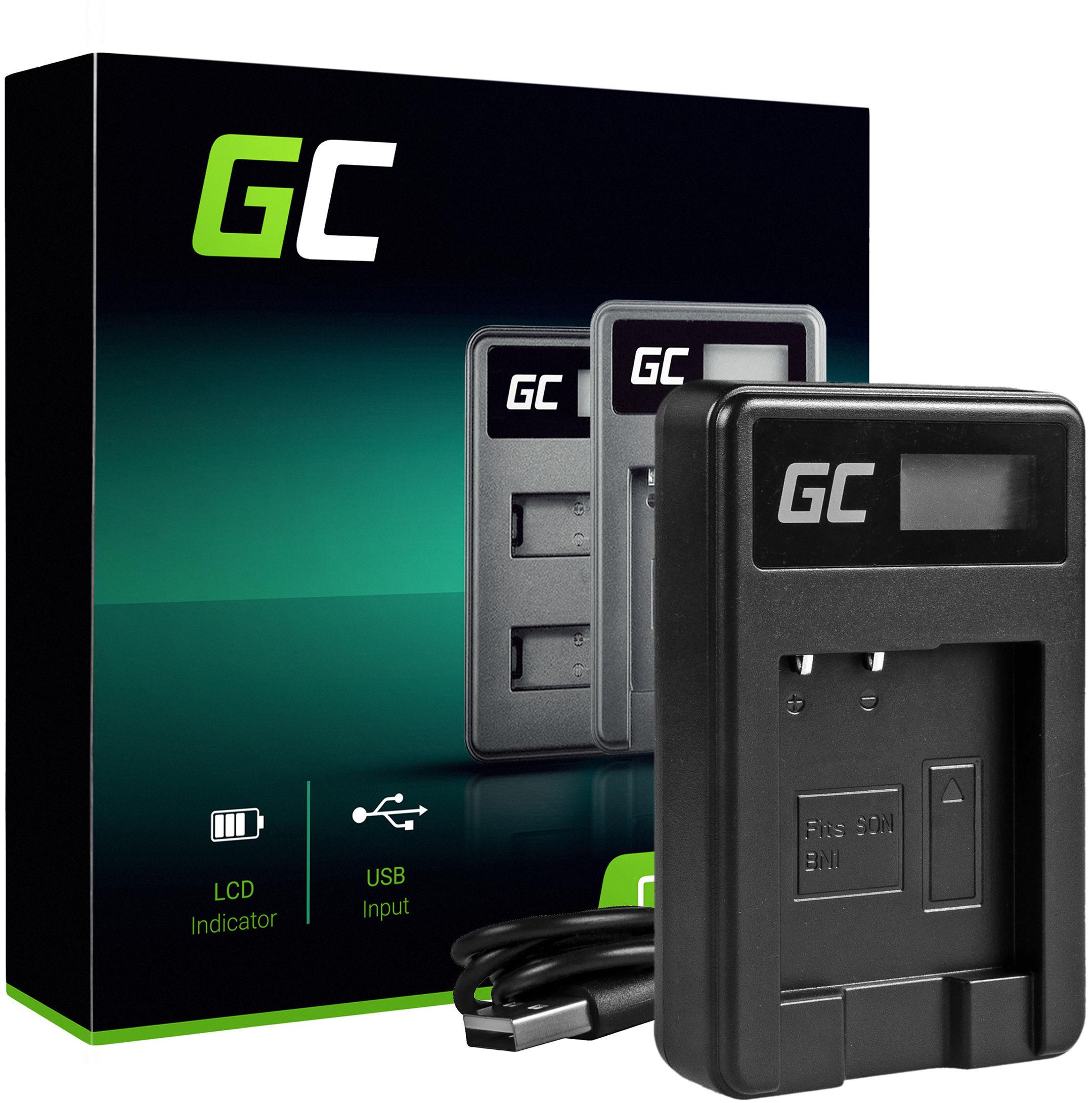 Ładowarka BC-CSN Green Cell  do Sony NP-BN1, Cyber-Shot DSC TF1 TX5 TX7 TX10 TX20 QX10 QX30 QX100 W530 W650 W800 WX30 WX50
