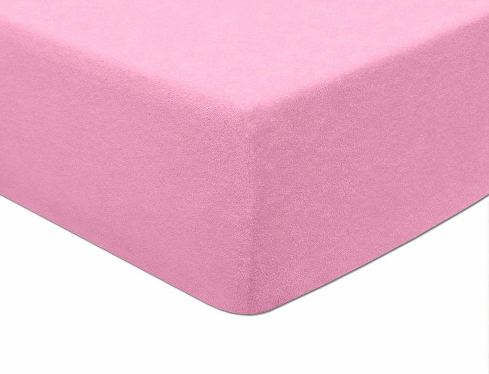 Prześcieradło frotte z gumką 60x120 005 różowe jasne Darymex