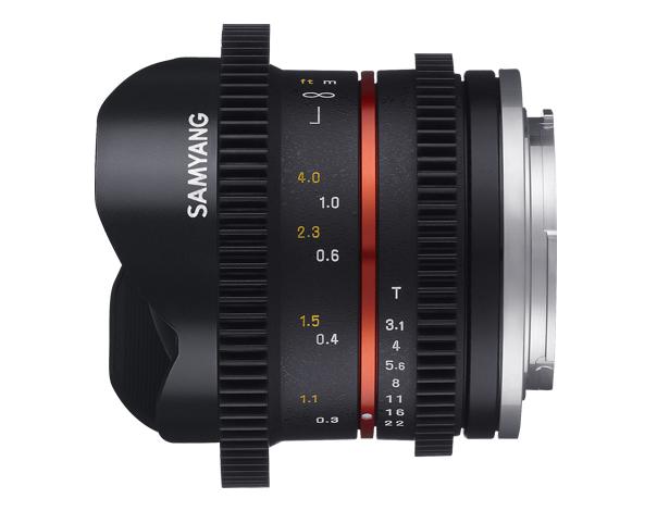 Samyang 8mm T3.1 Cine UMC FISH-EYE II - obiektyw do Sony E Samyang 8mm T3.1 Cine UMC FISH-EYE II