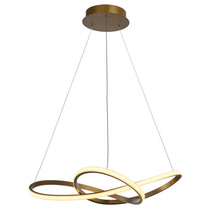 Lampa wisząca Vita MD17011010-2A GOLD Italux złota nowoczesna lampa wisząca LED