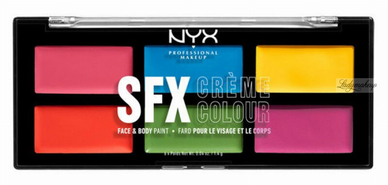 NYX Professional Makeup - SFX CREME COLOUR Face & Body Paint - Paleta 6 farb do twarzy i ciała