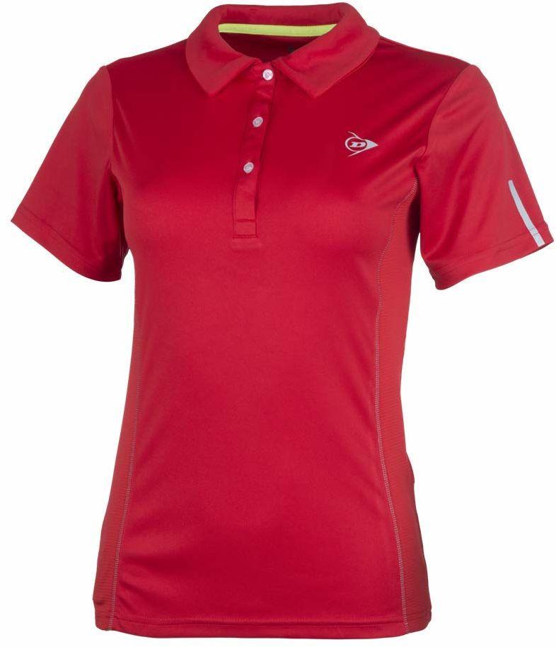 Dunlop Club Line damska koszulka polo czerwony czerwony X-S