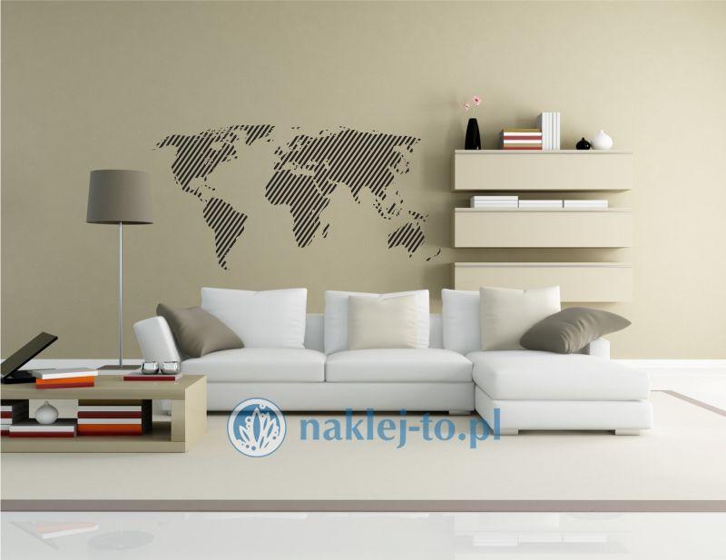 naklejka dekoracyjna Mapa świata 8 naklejka na ścianę