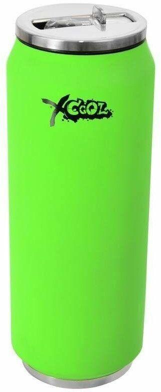 Kubek termiczny termos bidon neonowy zielony PUSZKA 500 ml