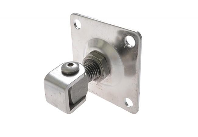 Zawias regulowany M20 z płytką 100x100 mm INOX (stal nierdzewna) AISI 304