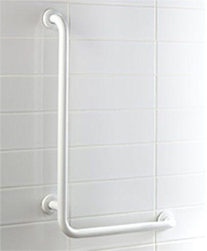Uchwyt łazienkowy dla niepełnosprawnych Bisk L PRO  25 55 cm stal biała