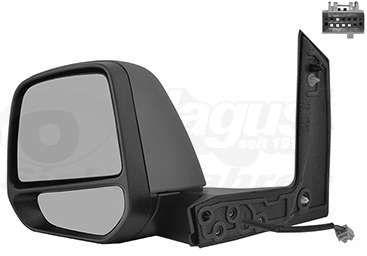 lusterko lewe zewnętrzne Ford Transit / Tourneo Connect MK2 czarne